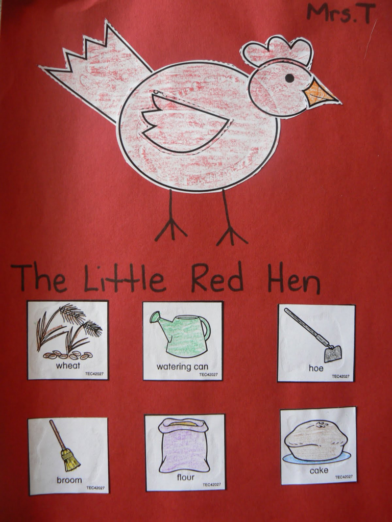 Mrs. T's First Grade Class: The Little Red Hen   Little Red Hen Sequencing Cards Printable