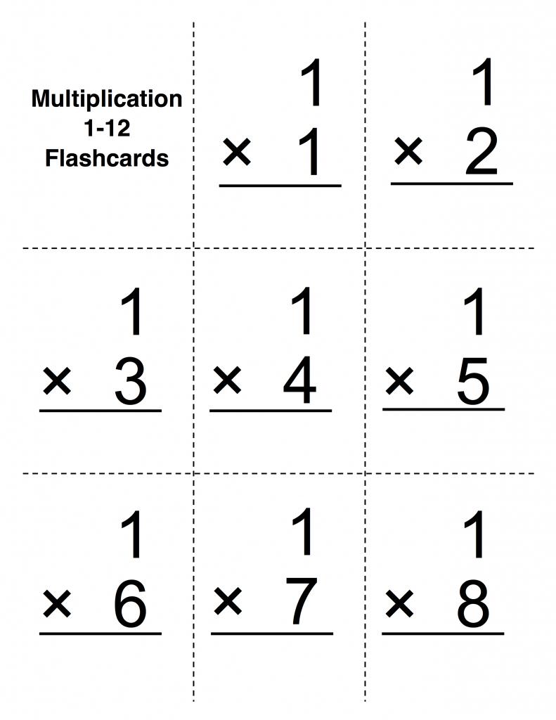 Multiplacation Flashcards - Under.bergdorfbib.co | Free Printable Multiplication Flash Cards 0 10
