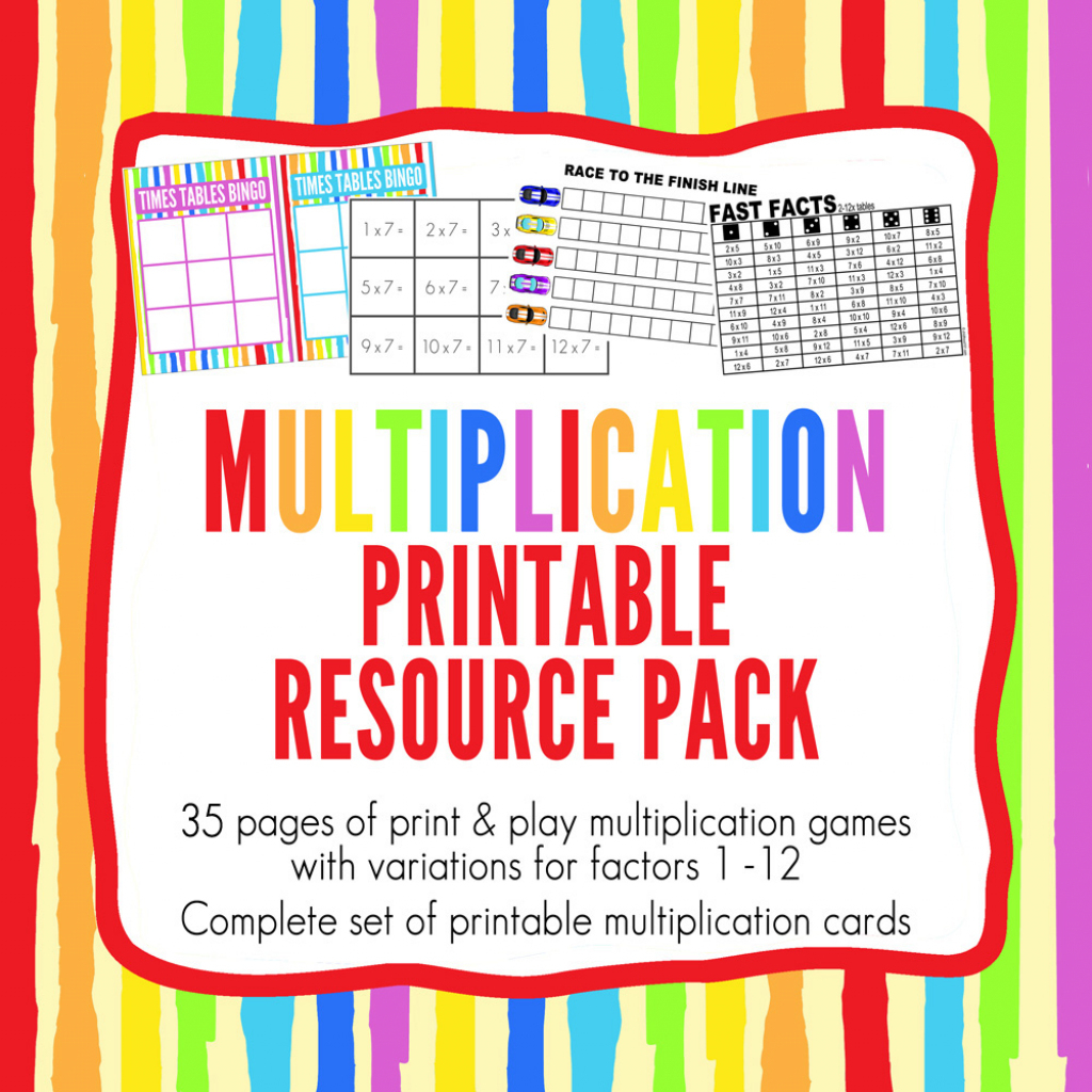Multiplication Games Printable Pack: 10 Times Tables Games For | Times Table Cards Printable