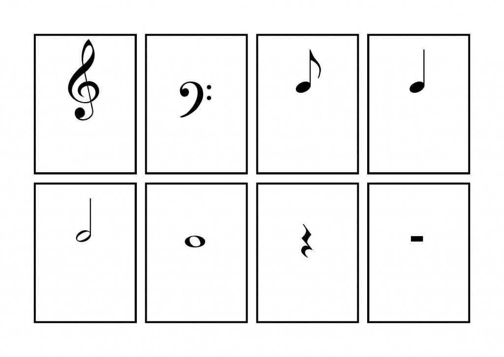 Music Symbol Flash Cards - Printable   School   Learning Music Notes   Piano Music Notes Flash Cards Printable