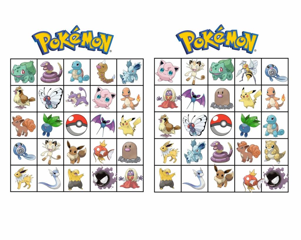 Musings Of An Average Mom: Pokemon Bingo | Pokemon Bingo Cards Printable