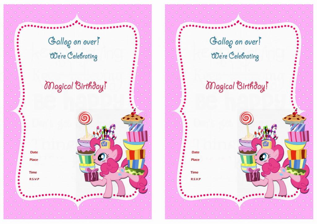My Little Pony Birthday Invitations | Birthday Printable | My Little Pony Printable Cards