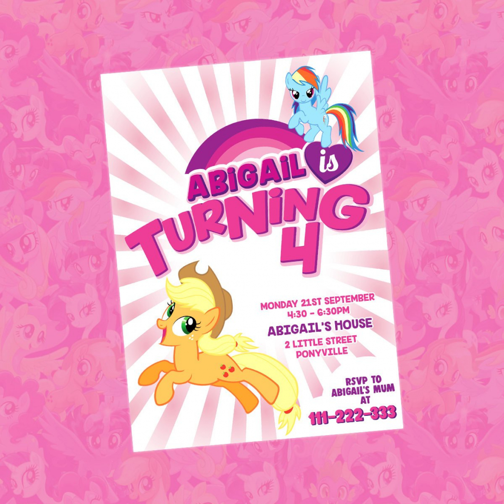 My Little Pony Invitation My Little Pony Birthday Invitation | Etsy | Free Printable My Little Pony Thank You Cards