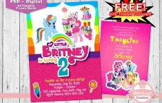 My Little Pony Invitation, My Little Pony Birthday Invitation | Free Printable My Little Pony Thank You Cards