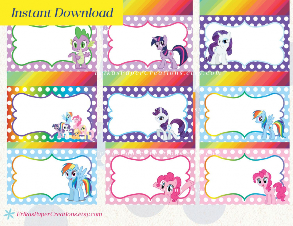 My Little Pony Printable Food Tent Editable Pdf / Place Cards | My Little Pony Printable Cards