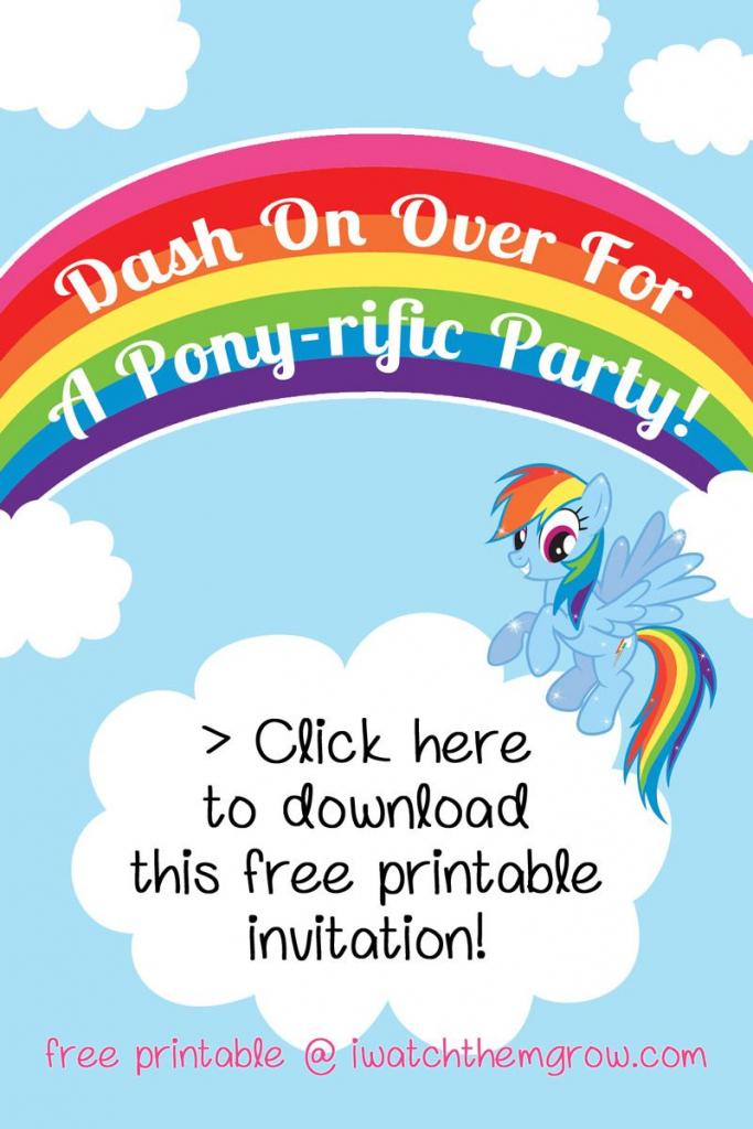 My Little Pony Rainbow Dash Birthday Party Printables | Birthday's | Free Printable My Little Pony Thank You Cards