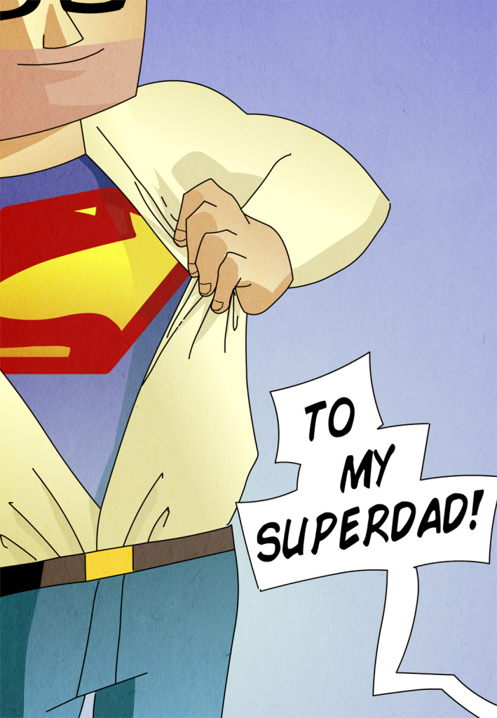 My Superdad - Father's Day Card (Free) | Greetings Island | Super Dad Card Printable