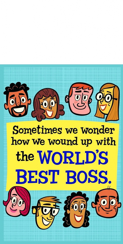 National Boss Day Cards – Purpleproposition | Printable Funny Bosses Day Cards