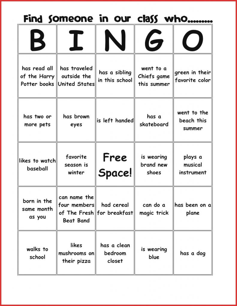 New Bingo Card Template | Leave Latter | Printable Icebreaker Bingo Cards