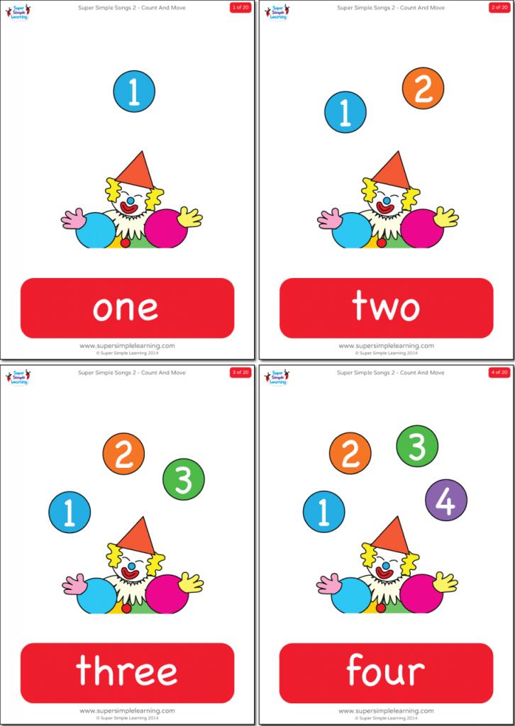 Numbers 1-20 Flashcards - Super Simple | Number Word Flash Cards Printable 1 20
