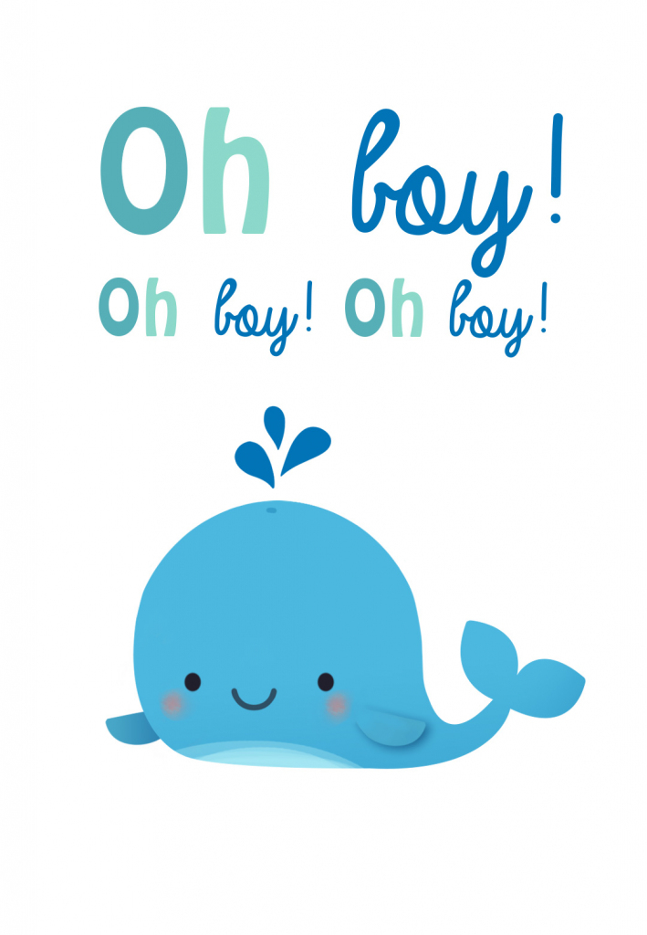 Oh Boy - Baby Shower & New Baby Card   Greetings Island   Baby Greeting Cards Printable