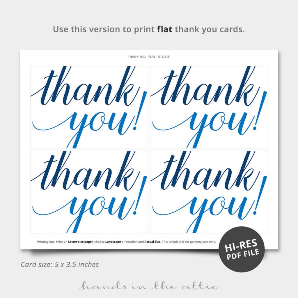 Oh Boy Blue Thank You Card | Printable Stationery | Hands In The Attic | Printable Thank You Cards Pdf