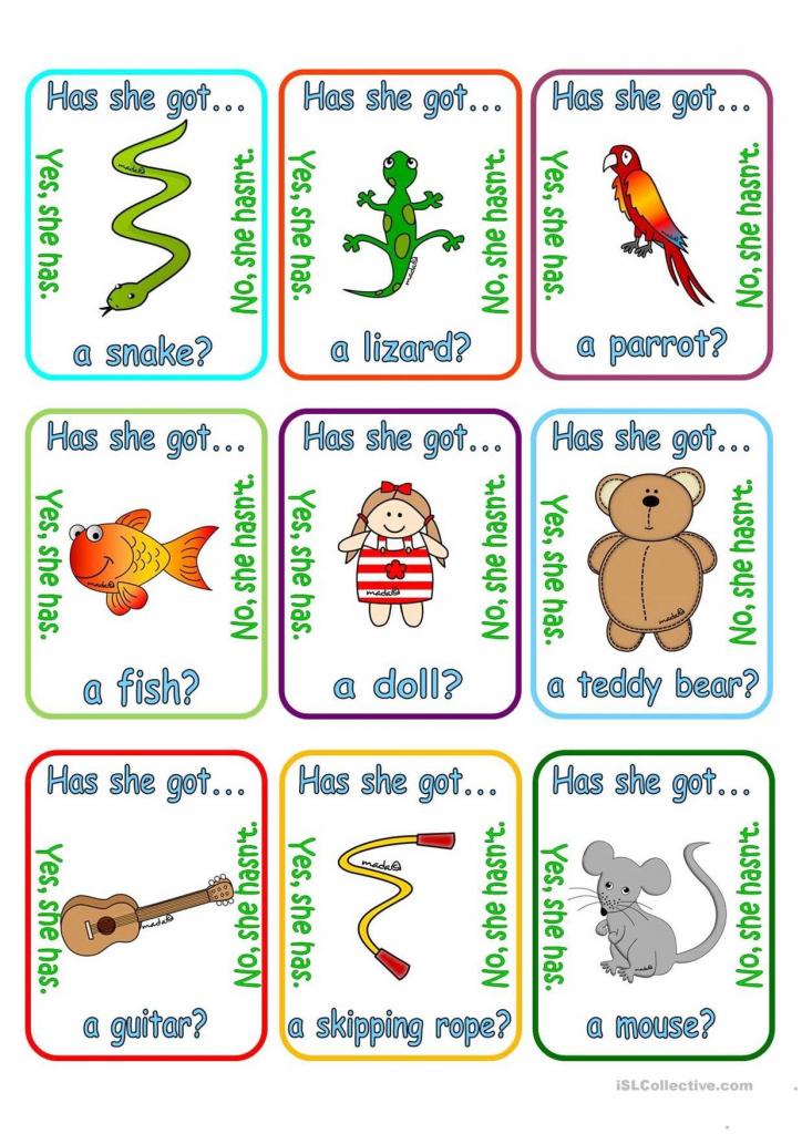 One-Click Print Document | English | Pinterest | Going Fishing, Pet | Esl Card Games Printable