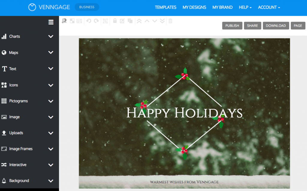 Online Card Maker - Create A Custom Card With Venngage   Free Online Christmas Photo Card Maker Printable