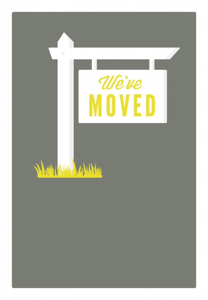 Our New Address - Free Printable Moving Announcement Template | We Are Moving Cards Free Printable
