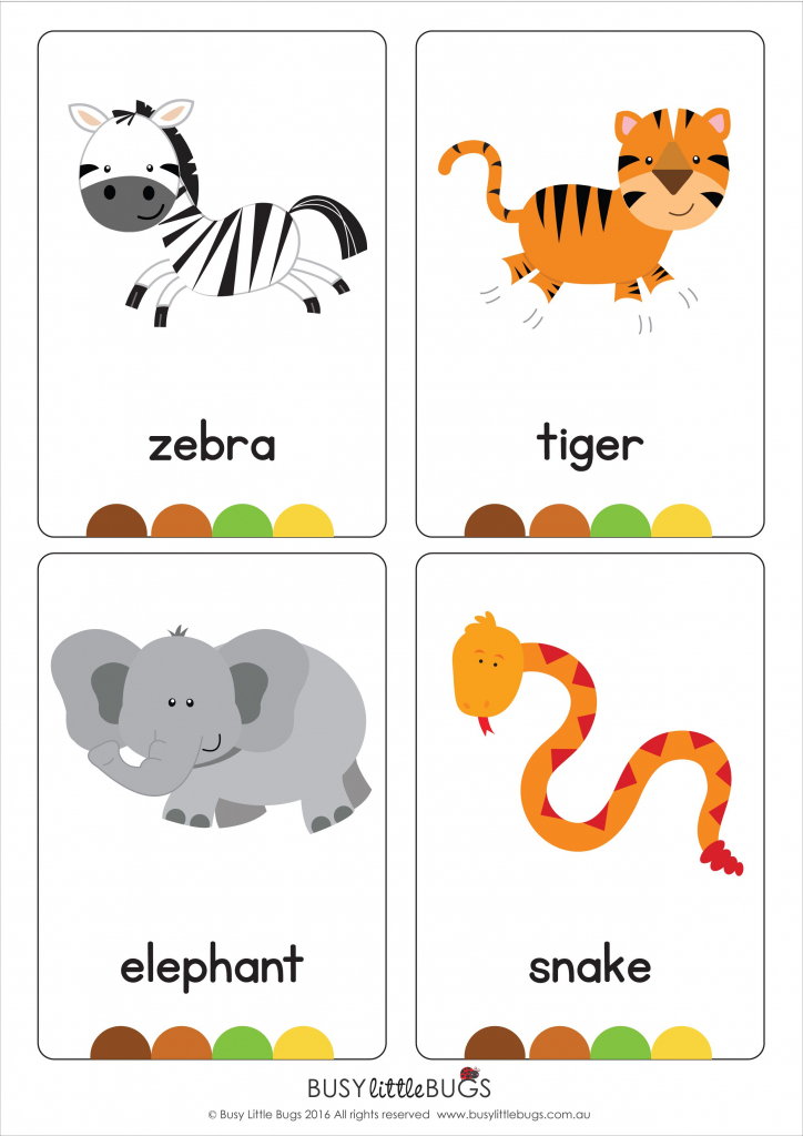 """Our Set Of Printable """"jungle Animal Flash Cards"""" Are A Great   Animal Snap Cards Printable"""