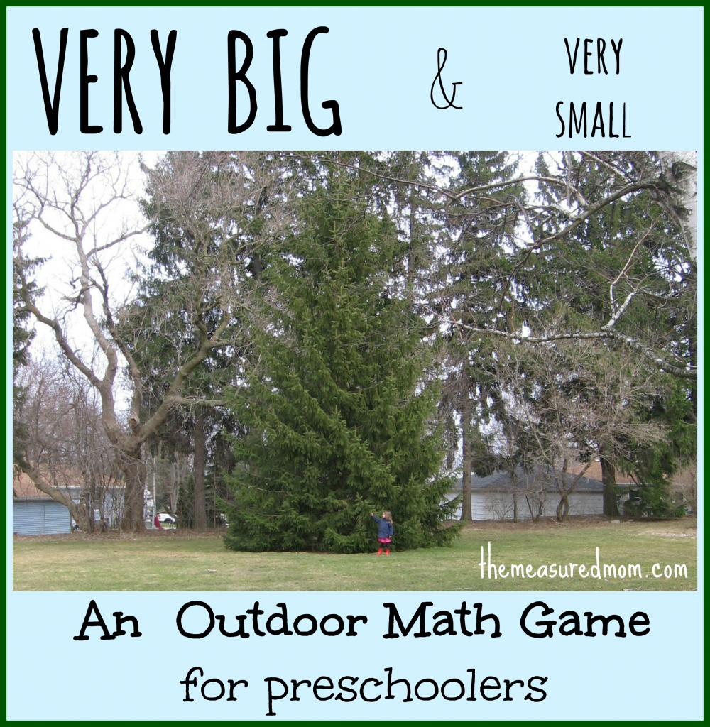 Outdoor Math Game: Exploring Size - The Measured Mom | Math 24 Printable Cards