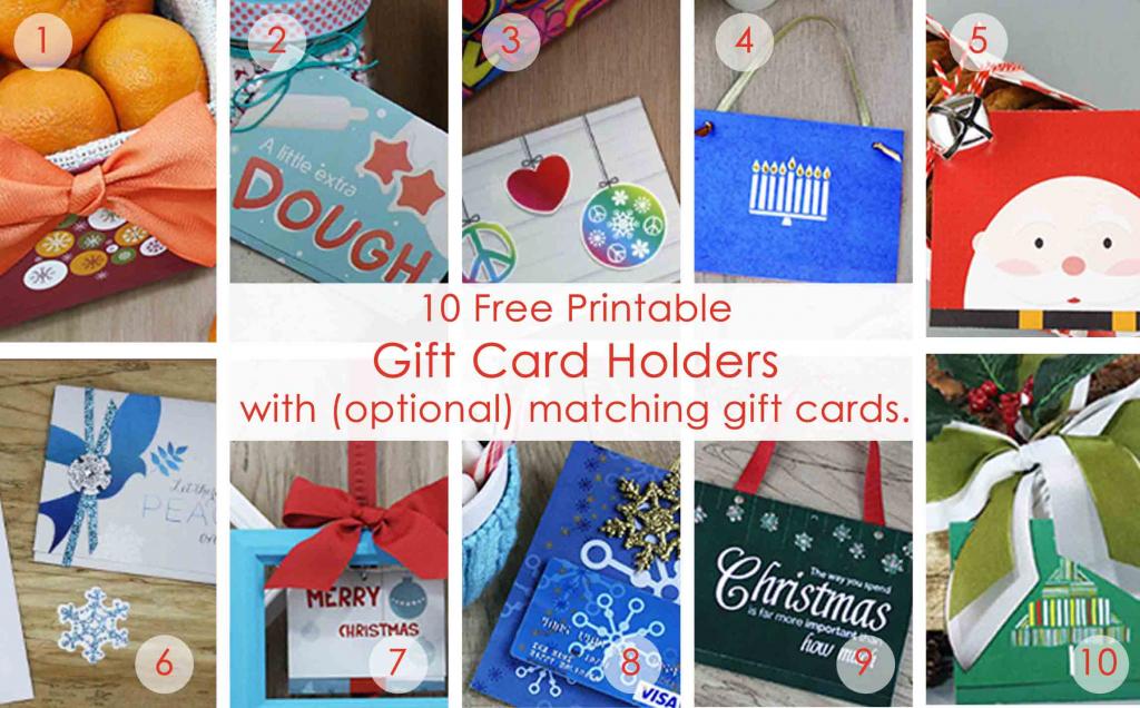 Over 50 Printable Gift Card Holders For The Holidays | Gcg | Free Printable Christmas Gift Cards