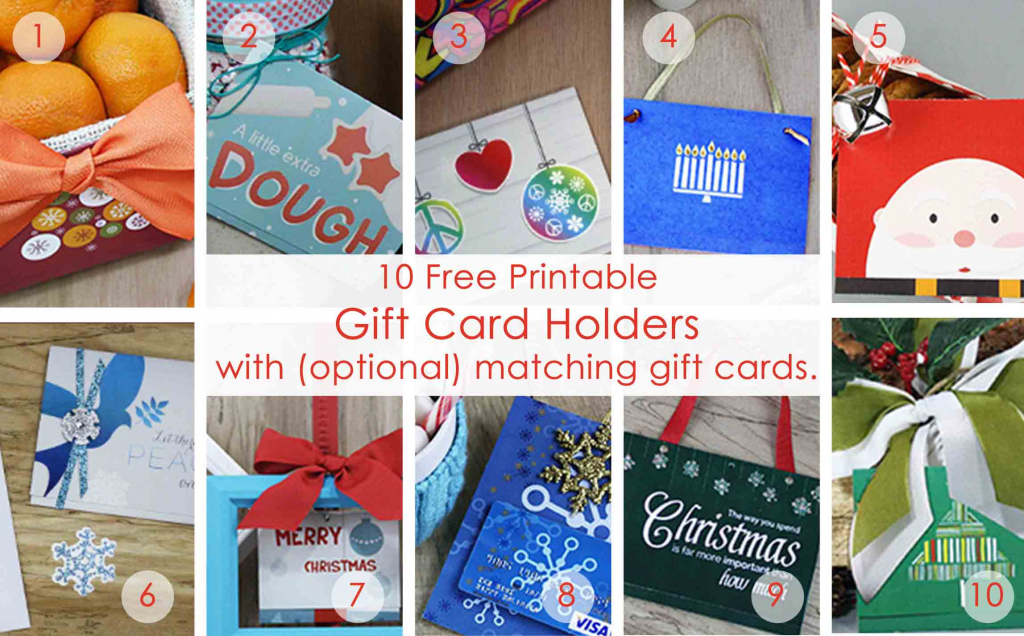 Over 50 Printable Gift Card Holders For The Holidays   Gcg   Gift Card Printable Envelope