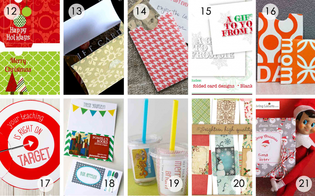 Over 50 Printable Gift Card Holders For The Holidays | Gcg | Printable Gift Card Holder