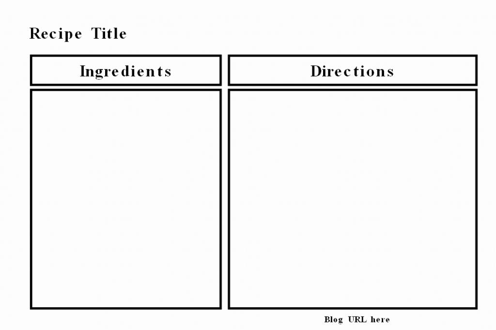 Pdf Recipe Templates | Www.galleryneed | Printable Recipe Card Templates Martha Stewart