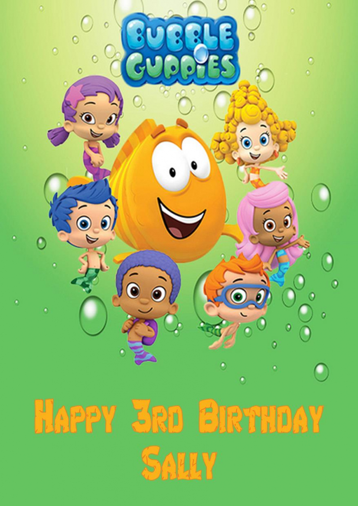 Personalised Bubble Guppies Birthday Card | Bubble Guppies Printable Birthday Cards