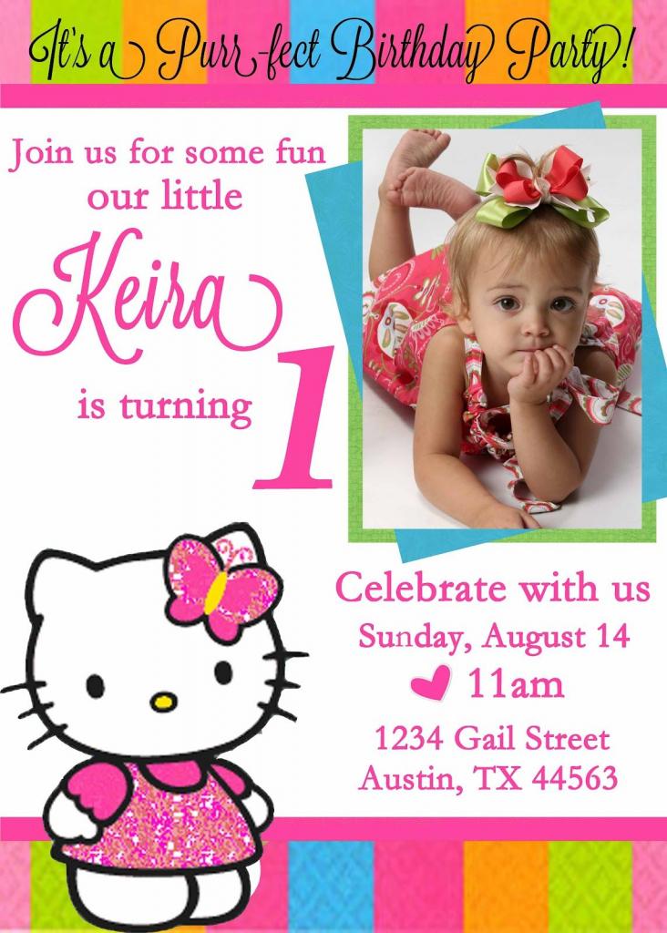 Personalized Hello Kitty Birthday Invitations -   Free Printable   Free Printable Personalized Birthday Invitation Cards