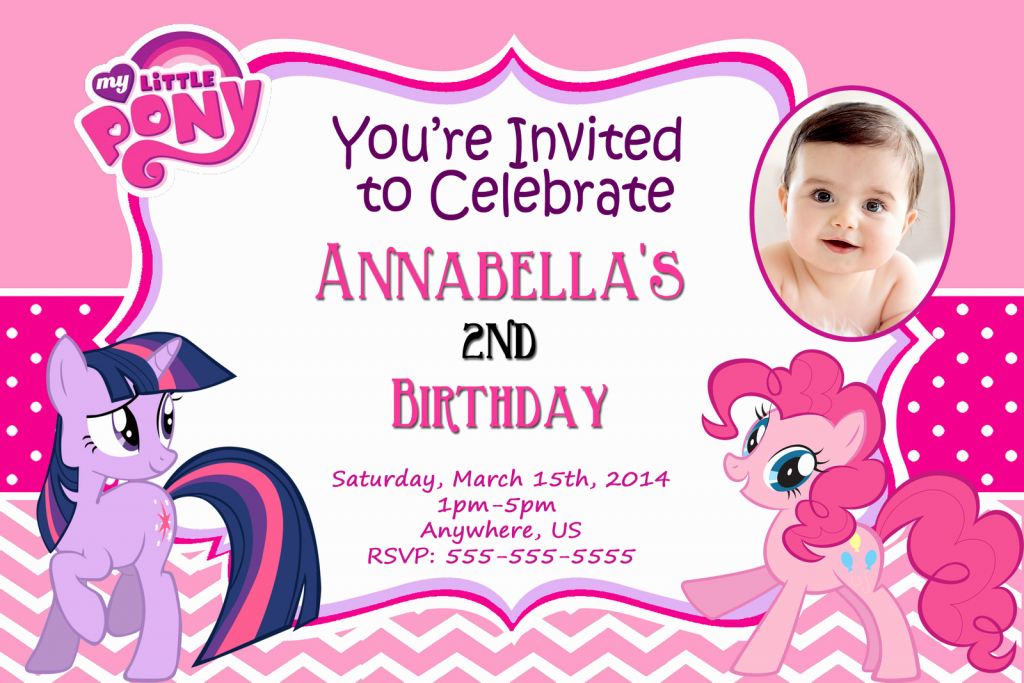 Personalized Invitation Card For Birthday Lovely Free My Little Pony | My Little Pony Printable Cards
