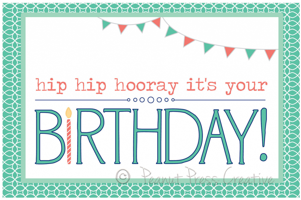 Personalized Printable Birthday Cards - Kleo.bergdorfbib.co   Happy Birthday From All Of Us Printable Cards