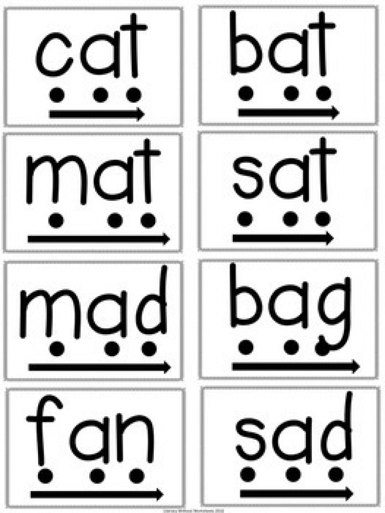 Phonics Blending Word Cards For Rti Includes Digital File | Tpt | Free Printable Blending Cards