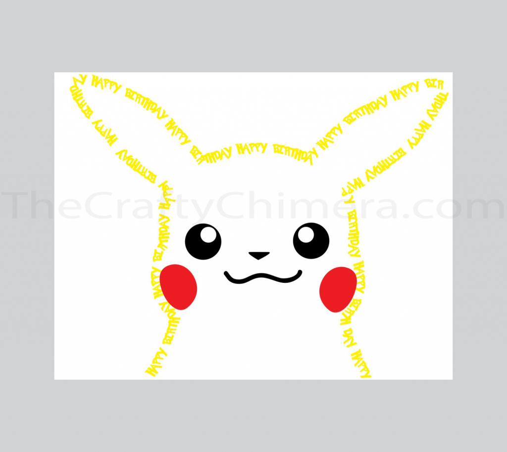 Pikachu Printable Birthday Card Pokemon | Etsy | Pokemon Birthday Card Printable