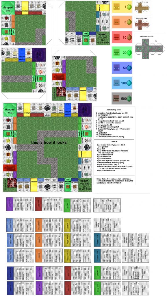 Pincrafty Annabelle On Minecraft Printables | Minecraft | Minecraft Pokemon Cards Printable