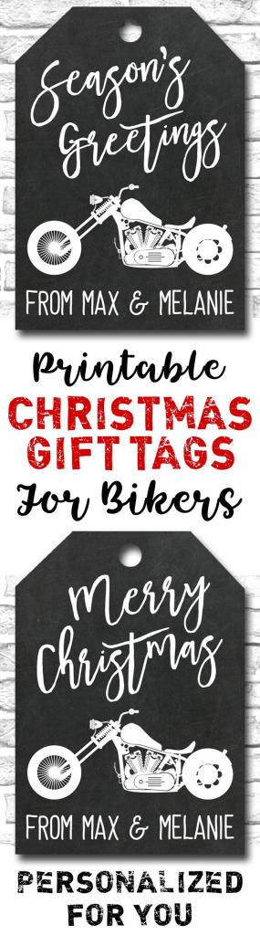 Pinheidi K On Printables | Christmas Gift Tags, Motorcycle Gifts | Printable Harley Davidson Gift Cards