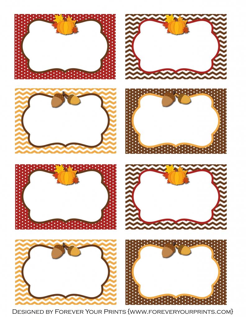 Pinirene Bortolussi On Thanksgiving | Free Thanksgiving | Printable Table Name Cards For Thanksgiving