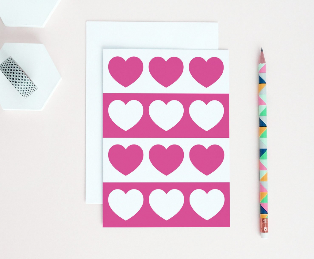 Pink Love Card Printable Valentines Card Love You Card | Etsy | Just Because I Love You Cards Printable