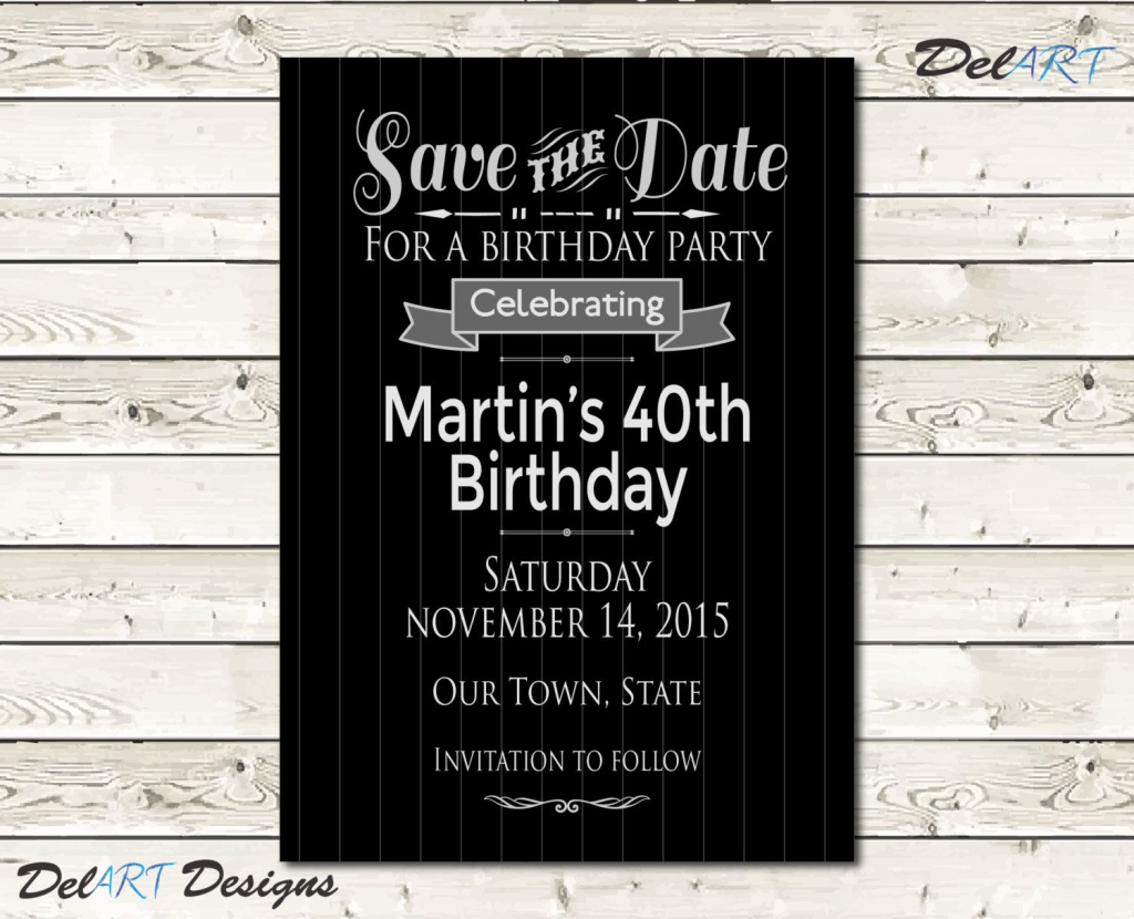 Pinlynn Harris On Lynn's 60Th | Silver Save The Dates, Save The | Printable Save The Date Birthday Cards