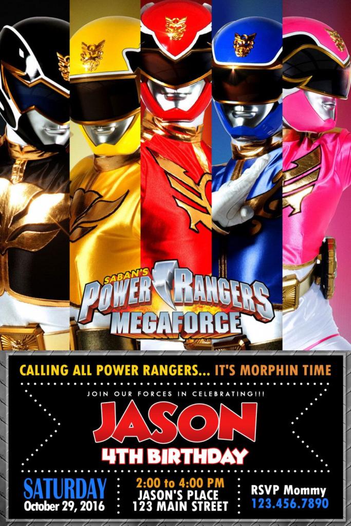 Pinoliviadollhouseatl On Power Rangers Party Activities In 2019   Power Rangers Birthday Card Printable
