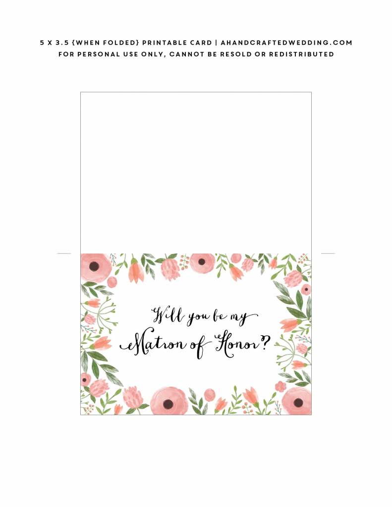 Pinrachel Mcmanus On The Wonderful Wedding Of Woz | Free Printable Will You Be My Maid Of Honor Card
