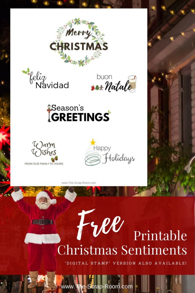 Pinthe Scrap Room - Diy & Craft Tutorials On Svg's Printables   Create Your Own Free Printable Christmas Cards