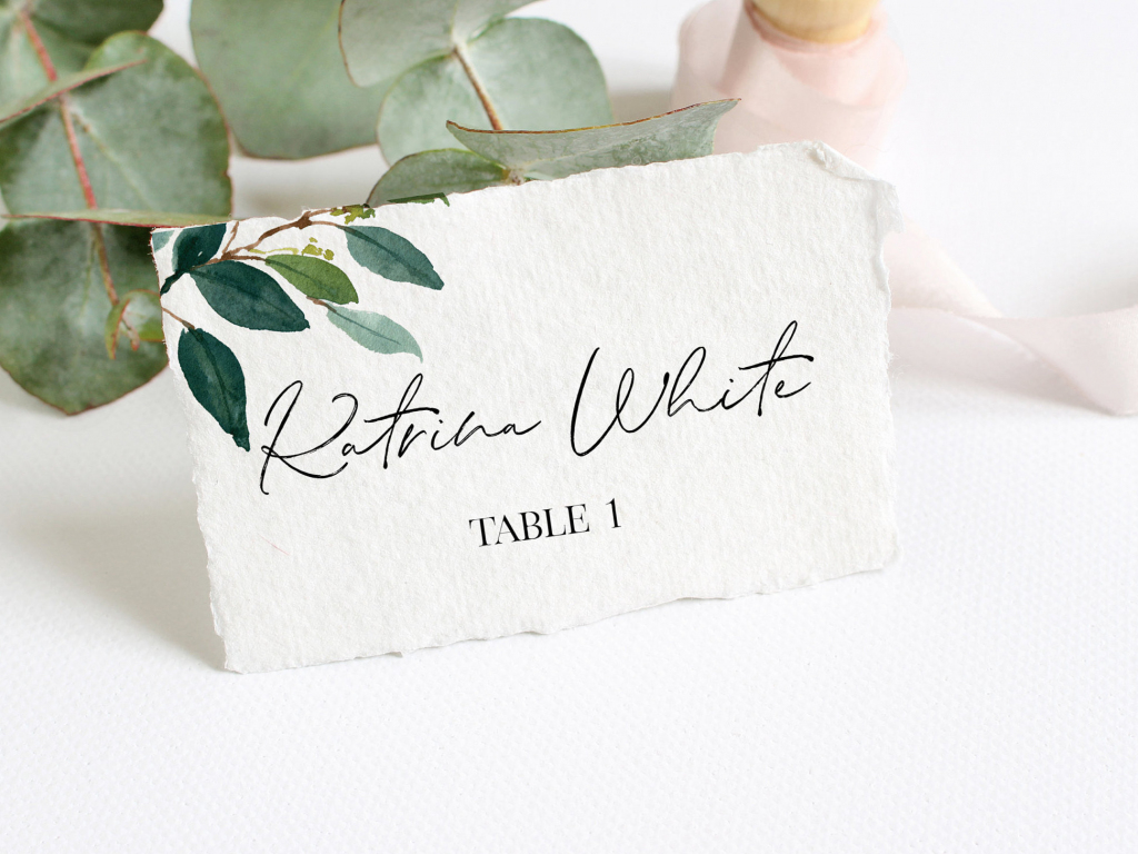 Place Card Template For Wedding Printable Wedding Place   Etsy   Printable Wedding Place Cards