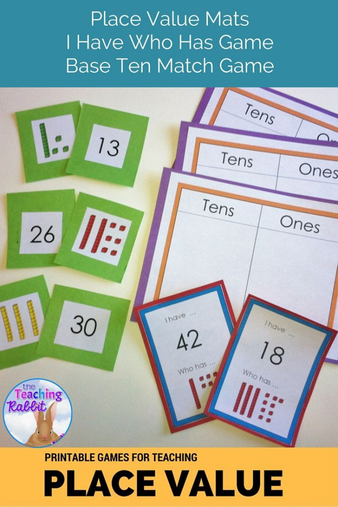 Place Value Games   First Grade Math   Base Ten Picture Cards Printable