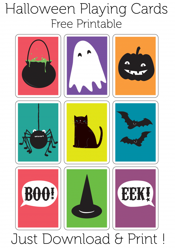 Play A Game Of Haunted Snap With These Halloween Playing Cards. Free | Free Printable Snap Cards