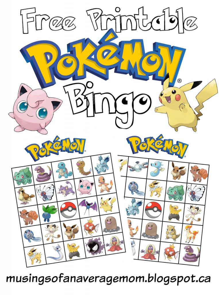 Pokemon Bingo | Bday Ideas #8 Pokemon | Pokemon Birthday, Pokemon | Pokemon Bingo Cards Printable