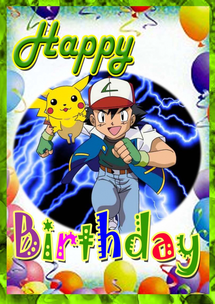Pokemon Birthday Card | Free Printable Birthday Cards | Pokemon Birthday Card Printable