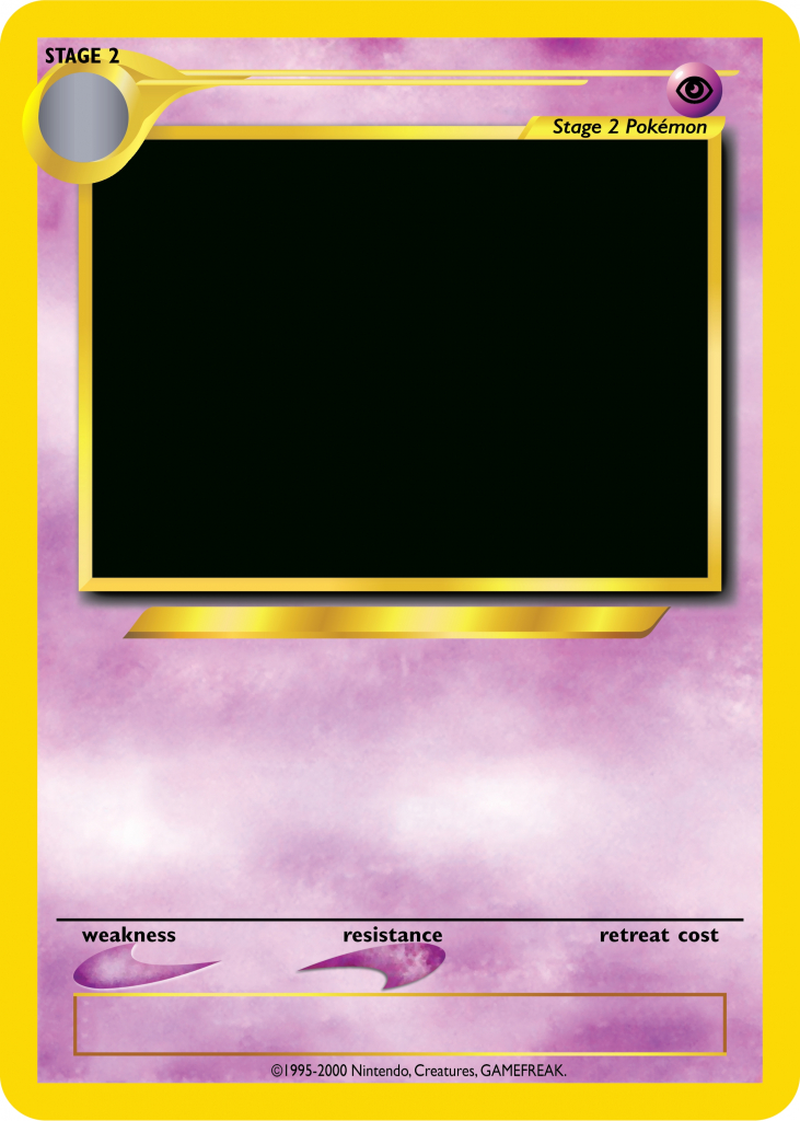 Pokemon Card Template - Beepmunk   Blank Pokemon Card Printable