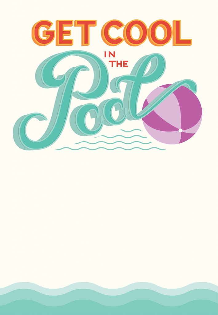 Pool Party - Free Printable Party Invitation Template | Greetings | Free Printable Pool Party Invitation Cards