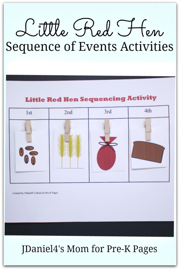 Practicing Sequencing Skills With The Little Red Hen - Pre-K Pages   Little Red Hen Sequencing Cards Printable