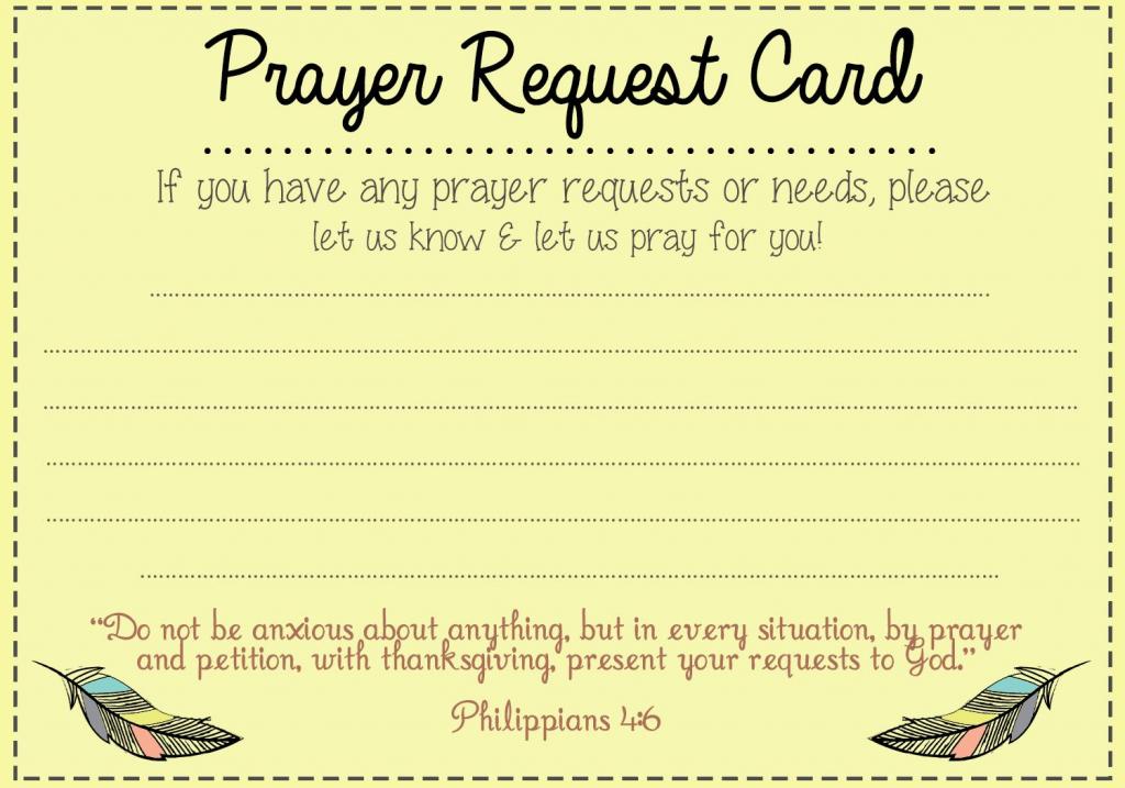 Prayer Request Card Idea | Mops | Prayer Ministry, Prayer For Church | Prayer Request Cards Printable