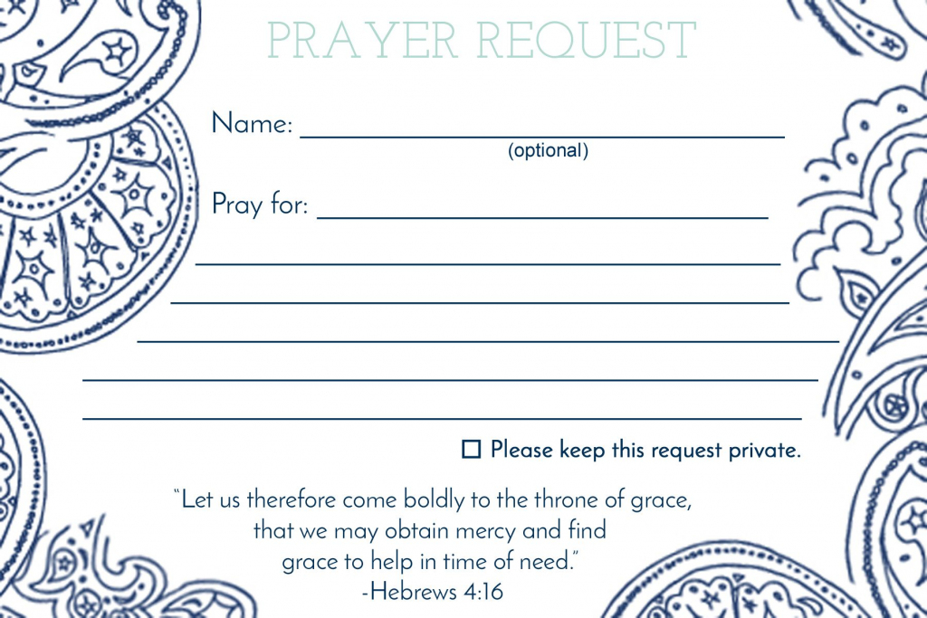 Prayer Request Card … | Mops | Praye… | Prayer Request Cards Printable