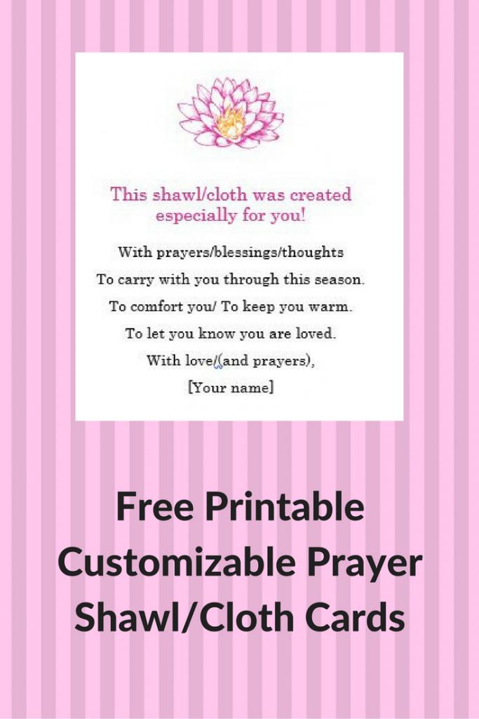 Prayer Shawl Cards: Free, Printable & Customizable   Crochet   Printable Prayer Shawl Cards